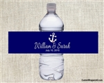 Wedding Water Bottle Label - Anchor (background color can be changed)