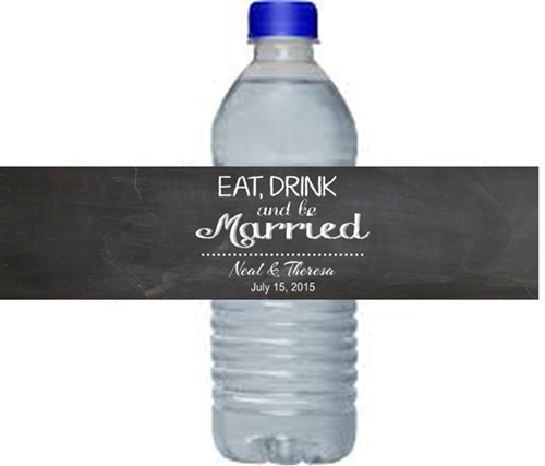 Eat Drink And Be Married Wine Labels Wedding Wine Labels: Eat, Drink, And Be Married