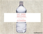 Wedding Water Bottle Label - Eat, Drink, Recover (background color can be changed)