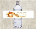 Wedding Water Bottle Label - Fall Leaves