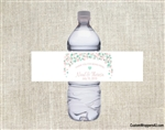 Wedding Water Bottle Label - Confetti (colors can be changed)
