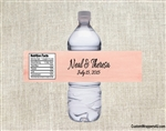 Wedding Water Bottle Label - Watercolor