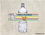 Birthday Water Bottle Label - Art Chevron