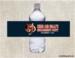 Cincinnati Bengals Water Bottle Label Party Favor