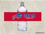 Buffalo Bills Water Bottle Label Party Favor