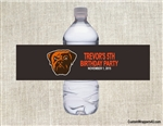 Cleveland Browns Water Bottle Label Party Favor