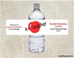 Teacher Appreciation Water Bottle Label - Teacher A+