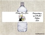 New Year's Eve Water Bottle Label - Top Hot & Confetti