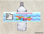Pool party water bottle labels, pool birthday party ideas, water bottle labels