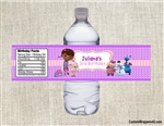 Doc McStuffins water bottle label