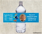 Finding Nemo water bottle label with photo, nemo birthday party favors