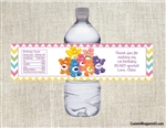 Care Bears water bottle labels birthday party favors Birthday Baby shower