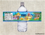 Bubble Guppies water bottle labels birthday party favors Birthday