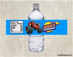 Blaze and the Monster Machines water bottle labels birthday party favors