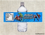 Avengers water bottle labels birthday party favors