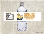 Despicable Me Minions water bottle labels birthday party favors