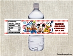 Mickey Mouse water bottle labels birthday party favors