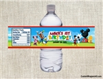 Mickey Mouse Clubhouse water bottle labels birthday party favors