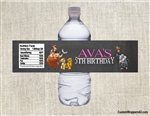 Lion King water bottle labels birthday party favors