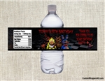 Five Nights at Freddy's water bottle labels birthday party favors