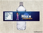 Miles from Tomorrowland Loretta water bottle labels birthday party favors