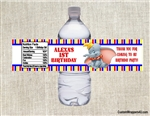 Dumbo water bottle labels birthday party favors
