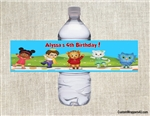 Daniel the Tiger's Neighborhood water bottle labels birthday party favors