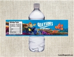 Finding Nemo water bottle labels birthday party favors Dory