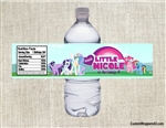 My Little Pony MLP water bottle labels birthday party favors