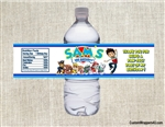 Paw Patrol water bottle labels birthday party favors