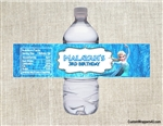 Frozen Elsa water bottle labels birthday party favors