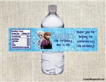 Frozen Elsa and Anna water bottle labels birthday party favors