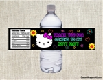 Hello Kitty water bottle labels birthday party favors