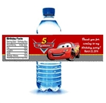 Cars Lightning McQueen water bottle labels birthday party favors