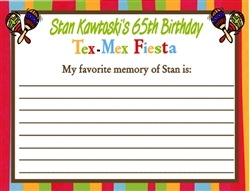 Adult Birthday Wish Card - Tex Mex Fiesta