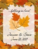 Fall wedding wine bottle labels