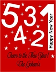 New Year's eve wine or champagne bottle labels personalized
