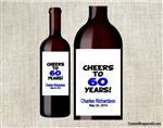 Cheers to years birthday party wine bottle label party favors