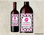 Bachelorette party wine bottle label party favors kiss the single life goodbye