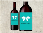 Tiffany wine bottle label