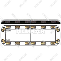 "12-20001-E<br>LIGHTBAR 48"" LED 12-24VDC (AMB"