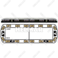 "12-20004-E<br>LIGHTBAR 48"" LED 12-24VDC (AMB"