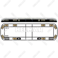 "12-20007-E<br>LIGHTBAR 54"" LED 12-24VDC (AMB"