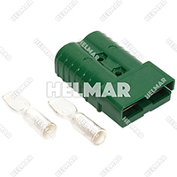 6324G1<br>CONNECTOR W/CONTACTS (SB350 2/0 GREEN)