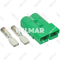 AM6324G1<br>CONNECTOR W/CONTACTS (SB350 2/0 GREEN)