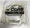 15-700-012 FWH - 4P4C, White,2 FT Coiled,12 FT Uncoiled-Extended,RJ22,Gold-Plated Contacts,PVC Jacket,UL Listed