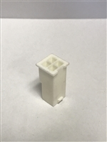 39-01-3049 - MOLEX - Mini-Fit Jr. Plug Housing, Dual Row, 4 Circuits, UL 94V-0, without Panel Mounting Ears, Natural