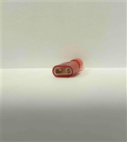 462242 - .250 FEM PUSH ON, OVAL, FULLY INSULATED RED NYLON 22-18AWG
