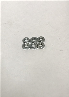 4CSHNZZ - 4-40 SMALL PATTERN HEX NUT STL ZNC