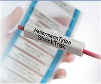 "553-50024 (HST9-3WH) - HELLERMANNTYTON Heat Shrink Labels, Single Side, Unslit, .38"" (9.52mm), PO-X, White, 250/box"